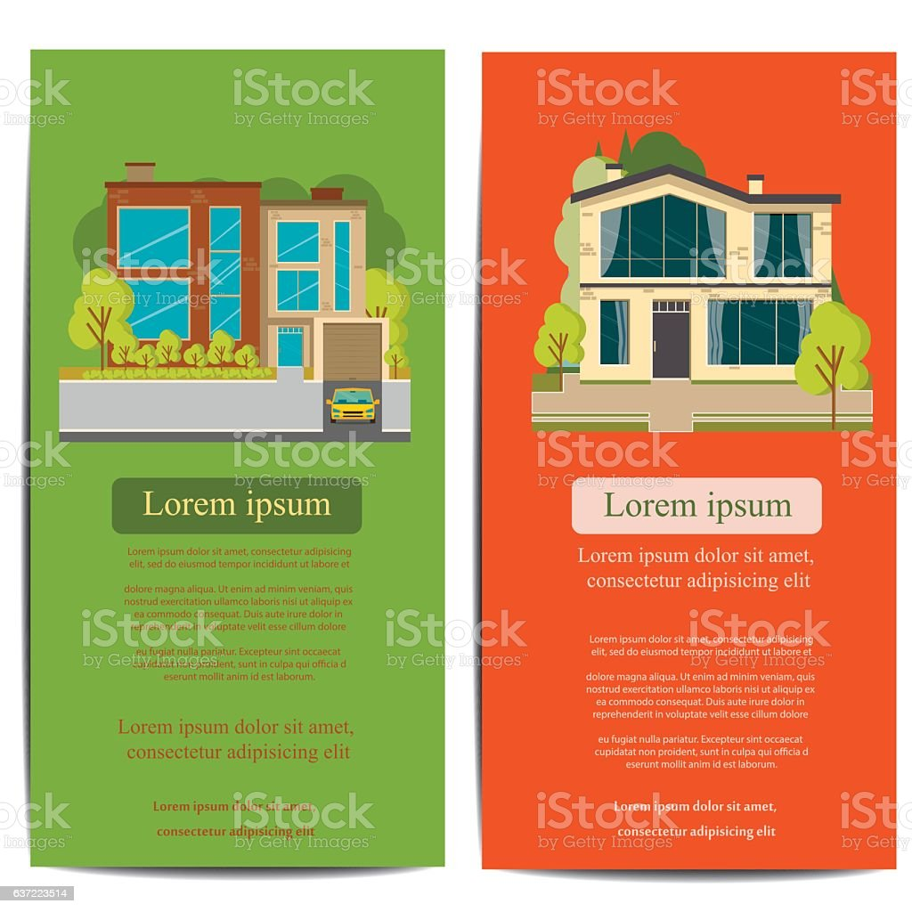 Architecture Brochure Template | Brochure Template Design Concept Of Architecture Vector Illustration