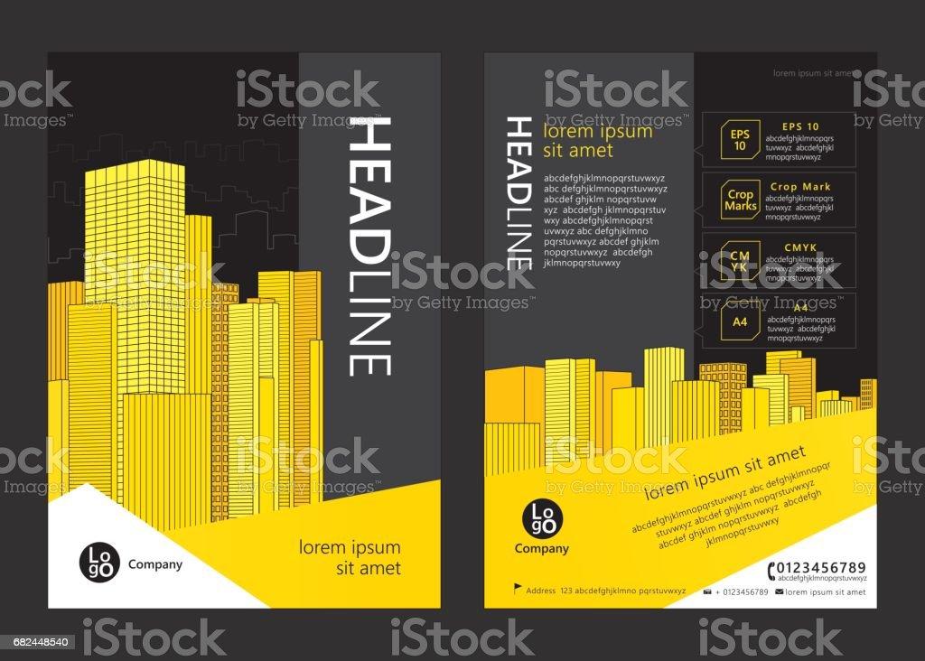 Broschüre template design. Lizenzfreies broschüre template design stock vektor art und mehr bilder von abstrakt