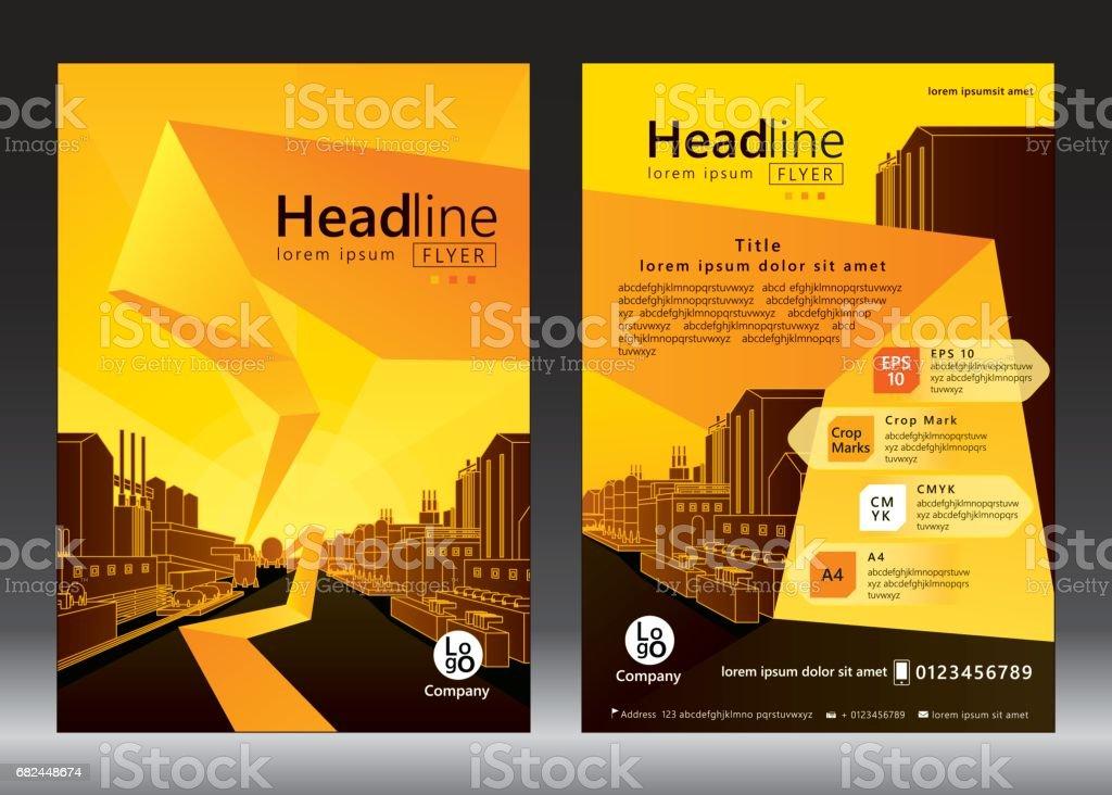 Broschüre template design Lizenzfreies broschüre template design stock vektor art und mehr bilder von abstrakt