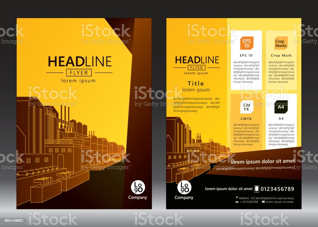 Brochure template design royalty-free brochure template design stock vector art & more images of abstract