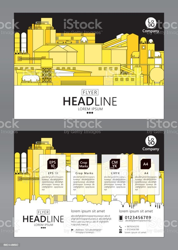 Folleto plantilla de diseño ilustración de folleto plantilla de diseño y más banco de imágenes de abstracto libre de derechos