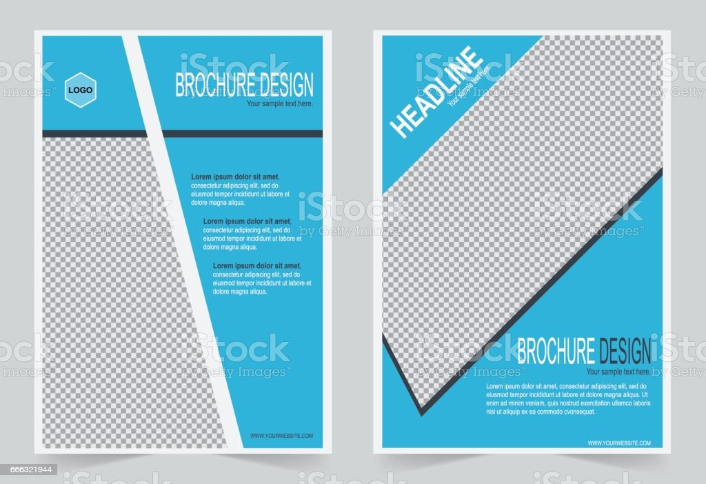 El Brochure Template | Brochure Template Flyer Design Blue Color Template Stock Vektor Art