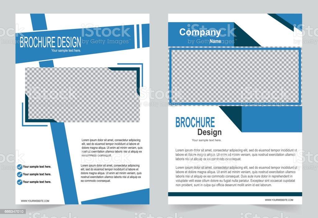 Brochure Template Flyer Design Blue Color Template Stock Vector Art