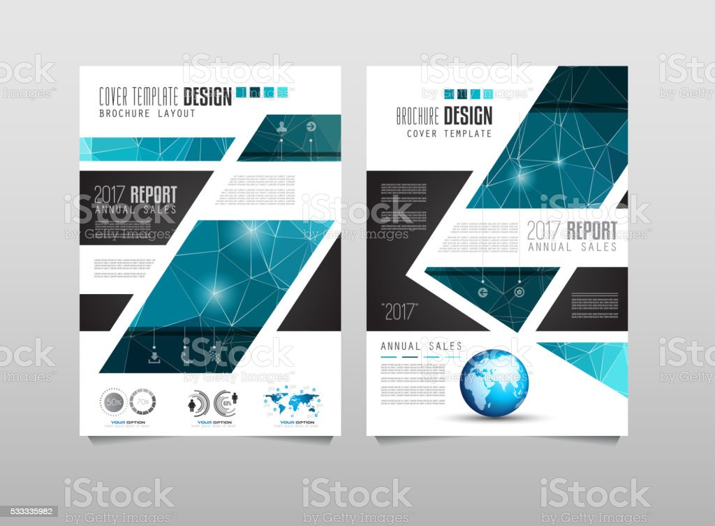 Brochure Template Flyer Design Or Depliant Cover For
