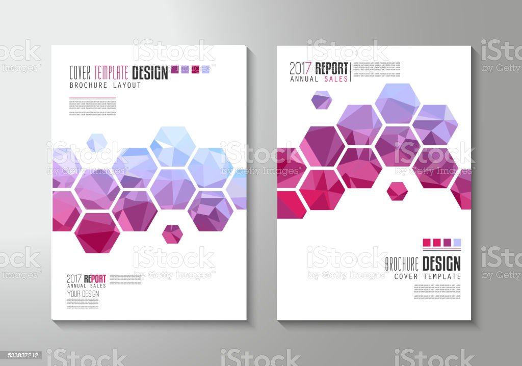 Brochure Template Flyer Design Or Depliant Cover For Business Stock