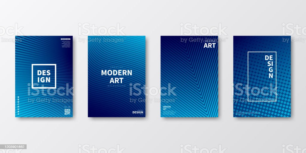 Brochure template layout, Blue cover design, business annual report, flyer, magazine - Royalty-free Abstract stock vector