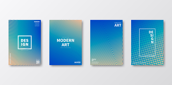 Brochure template layout, Blue cover design, business annual report, flyer, magazine