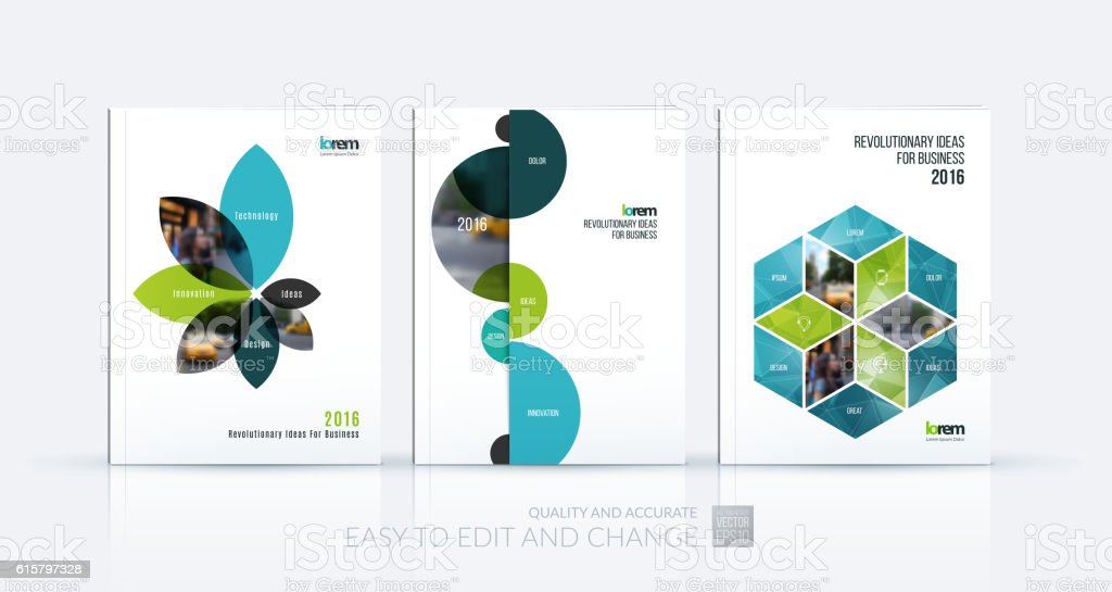 Brochure template layout collection, cover design annual report, - ilustración de arte vectorial