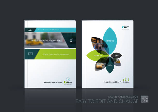 brochure template layout collection, cover design annual report, - fashion backgrounds stock illustrations, clip art, cartoons, & icons