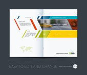 Brochure template layout collection, cover design annual report,