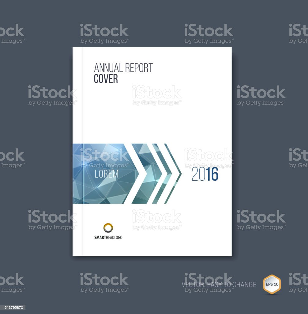 Brochure template layout, cover design annual report, magazine, vector art illustration