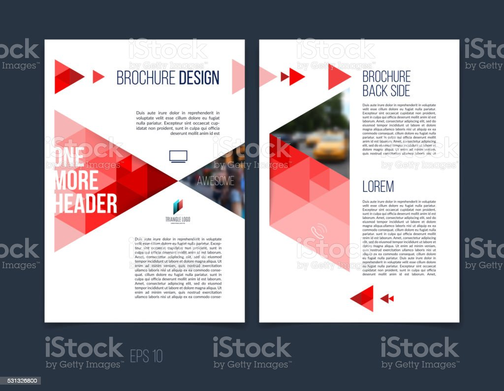 brochure cover designs - brochure template layout cover design annual report