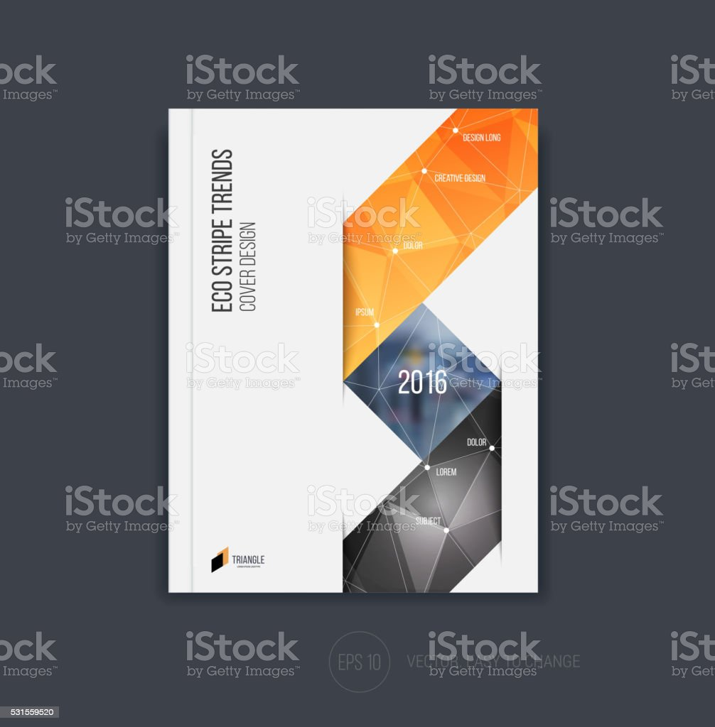 Brochure Template Layout Cover Design Annual Report Magazine Stock