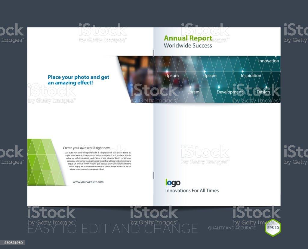 Ilustración de Plantilla De Diseño De Folleto Informe Anual De ...