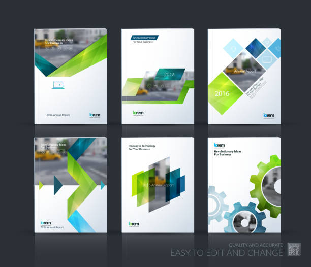 brochure template layout, cover design annual report, magazine, - annual reports templates stock illustrations
