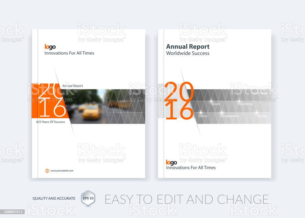 Brochure template layout, cover design annual report vector art illustration