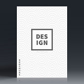 Vertical brochure template with a abstract geometric texture in white color (modern and trendy design). Can be used for different designs, such as brochure, cover design, magazine, business annual report, flyer, leaflet, presentations... Template for your design. With space for your text and your background. The layers are named to facilitate your customization. Vector Illustration (EPS10, well layered and grouped). Easy to edit, manipulate, resize or colorize.