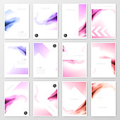 Set of twelve vertical brochure templates with a colorful abstract background. Wavy and bright shapes. Can be used for different designs, such as brochure, cover design, magazine, business annual report, flyer, leaflet, presentations... Template for your design. With space for your text and your background. The layers are named to facilitate your customization. Vector Illustration (EPS10, well layered and grouped). Easy to edit, manipulate, resize or colorize. Please do not hesitate to contact me if you have any questions, or need to customise the illustration. http://www.istockphoto.com/portfolio/bgblue