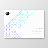 Horizontal brochure template with an abstract geometric background. Blue and purple pattern, geometric background with cube shape. Can be used for different designs, such as brochure, cover design, magazine, business annual report, flyer, leaflet, presentations... Template for your design. With space for your text and your background. The layers are named to facilitate your customization. Vector Illustration (EPS10, well layered and grouped). Easy to edit, manipulate, resize or colorize. Please do not hesitate to contact me if you have any questions, or need to customise the illustration. http://www.istockphoto.com/portfolio/bgblue
