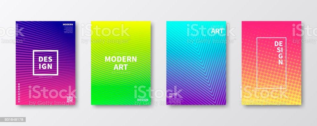 Disposition de modèle de brochure, conception de la couverture, rapport annuel d'activités, flyer, magazine - Illustration vectorielle