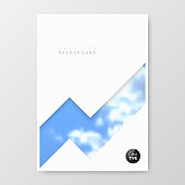 Vertical brochure template with an abstract background, blurred blue sky and clouds. Can be used for different designs, such as brochure, cover design, magazine, business annual report, flyer, leaflet, presentations... Template for your design. With space for your text and your background. The layers are named to facilitate your customization. Vector Illustration (EPS10, well layered and grouped). Easy to edit, manipulate, resize or colorize. Please do not hesitate to contact me if you have any questions, or need to customise the illustration. http://www.istockphoto.com/portfolio/bgblue