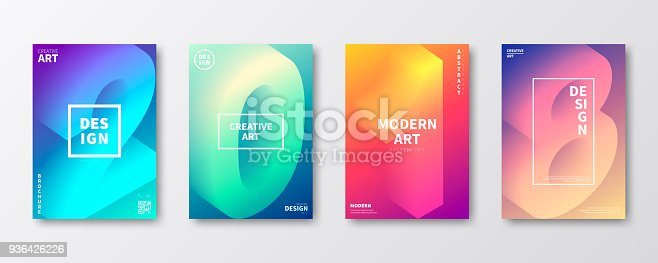 Set of four vertical brochure templates with a modern and trendy design. 2018 or number 2 (two), 0 (zero), 1 (one), 8 (eight) in isometric view with beautiful color gradients (purple, cyan, blue, green, orange, red, pink, beige). Can be used for different designs, such as brochure, cover design, magazine, business annual report, flyer, leaflet, presentations... Template for your design. With space for your text and your background. The layers are named to facilitate your customization. Vector Illustration (EPS10, well layered and grouped). Easy to edit, manipulate, resize or colorize. Please do not hesitate to contact me if you have any questions, or need to customise the illustration. http://www.istockphoto.com/portfolio/bgblue