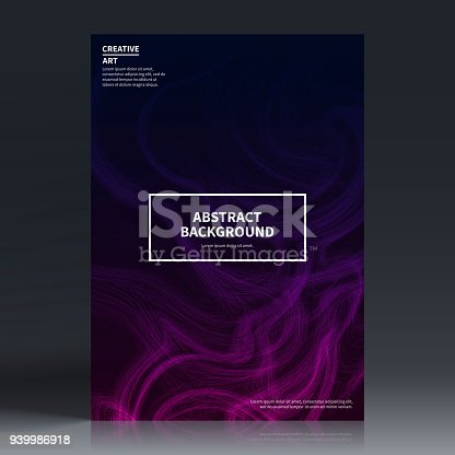 Vertical brochure template with a dark futuristic design on black background (modern and trendy abstract backgrounds - black, blue, pink, purple). Can be used for different designs, such as brochure, cover design, magazine, business annual report, flyer, leaflet, presentations... Template for your design. With space for your text and your background. The layers are named to facilitate your customization. Vector Illustration (EPS10, well layered and grouped). Easy to edit, manipulate, resize or colorize. Please do not hesitate to contact me if you have any questions, or need to customise the illustration. http://www.istockphoto.com/portfolio/bgblue
