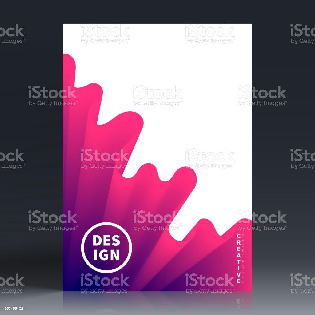 Ilustración de Diseño De Plantilla De Folleto Diseño De La Cubierta ...