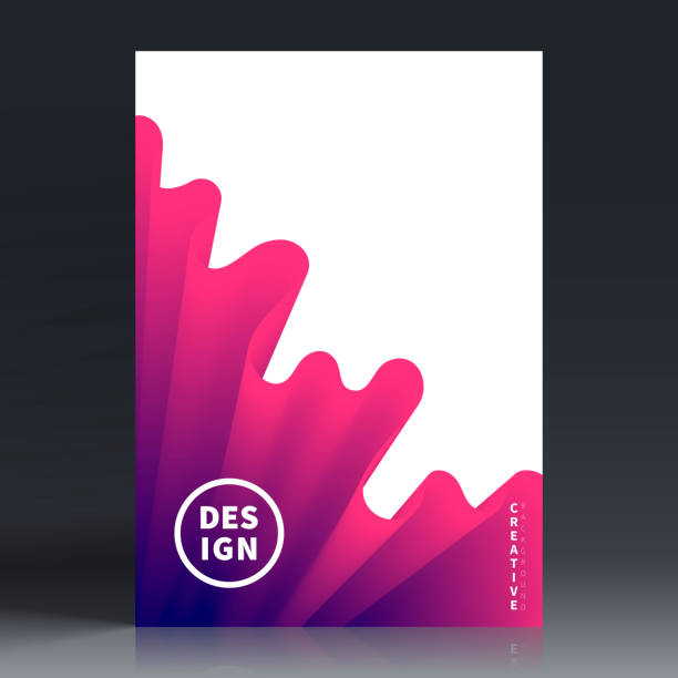 brochure template layout, cover design, business annual report, flyer, magazine - abstract drawings stock illustrations