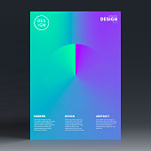 Vertical brochure template with a colorful abstract background. Modern and trendy background with beautiful color gradients (cyan, blue, purple, green). Can be used for different designs, such as brochure, cover design, magazine, business annual report, flyer, leaflet, presentations... Template for your design. With space for your text and your background. The layers are named to facilitate your customization. Vector Illustration (EPS10, well layered and grouped). Easy to edit, manipulate, resize or colorize. Please do not hesitate to contact me if you have any questions, or need to customise the illustration. http://www.istockphoto.com/portfolio/bgblue