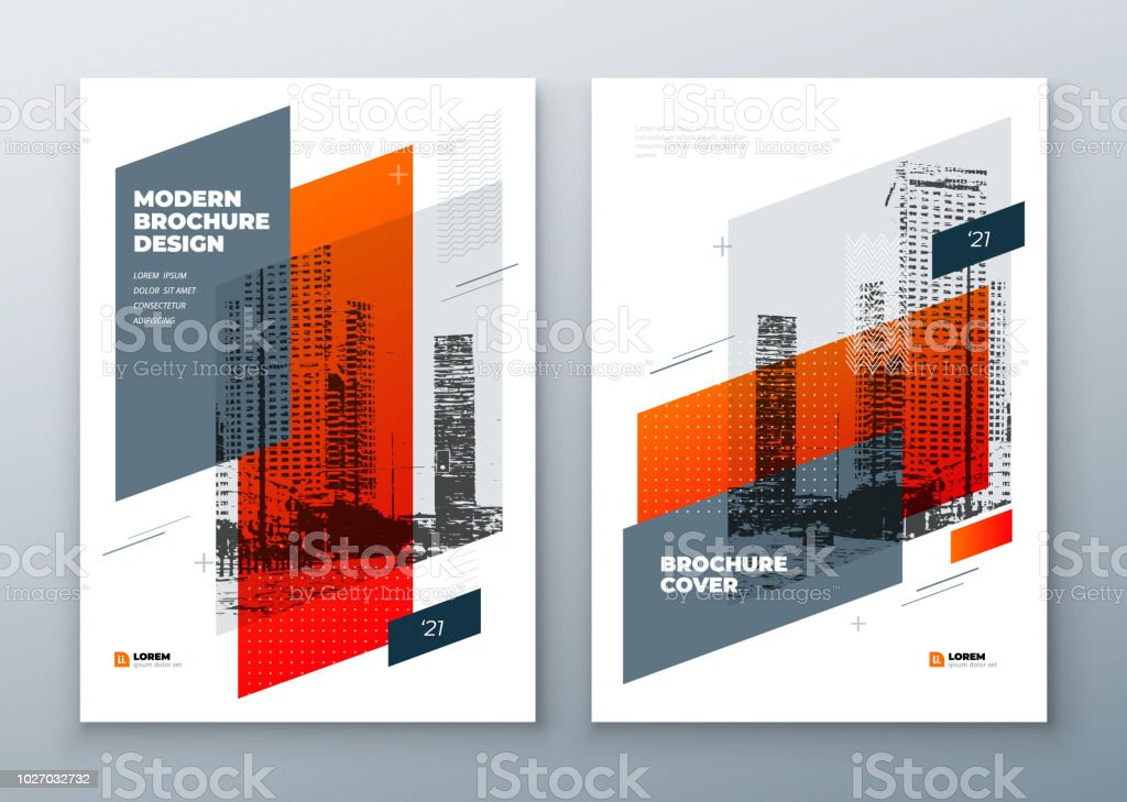 Broschüre-Template-Layout-Design. Firmenkundengeschäft Geschäftsbericht, Katalog, Magazin, Broschüre, Flyer-Mock-up. Moderne helle Kreativkonzept in Memphis-Stil - Lizenzfrei Abstrakt Vektorgrafik
