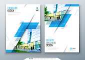 Brochure template layout design. Corporate business annual report, catalog, magazine, flyer mockup. Creative modern bright concept with rhombus shape.