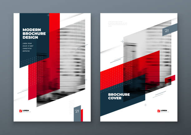 Brochure template layout design. Corporate business annual report, catalog, magazine, flyer mockup. Creative modern bright concept dynamic shape Brochure template layout design. Corporate business annual report, catalog, magazine, flyer mockup. Creative modern bright concept dynamic shape. architecture backgrounds stock illustrations
