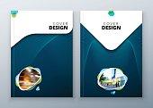 Brochure template layout design. Corporate business annual report, catalog, magazine, flyer mockup. Creative modern bright concept