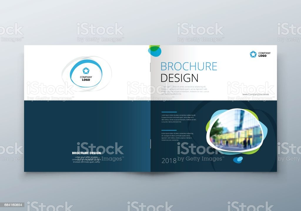 Brochure template layout design. Corporate business annual report, catalog, magazine, flyer mockup. Creative modern bright concept royaltyfri brochure template layout design corporate business annual report catalog magazine flyer mockup creative modern bright concept-vektorgrafik och fler bilder på abstrakt