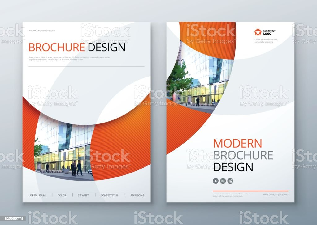 Brochure template layout design. Corporate business annual report, catalog, magazine, flyer mockup. Creative modern bright concept circle round shape vector art illustration