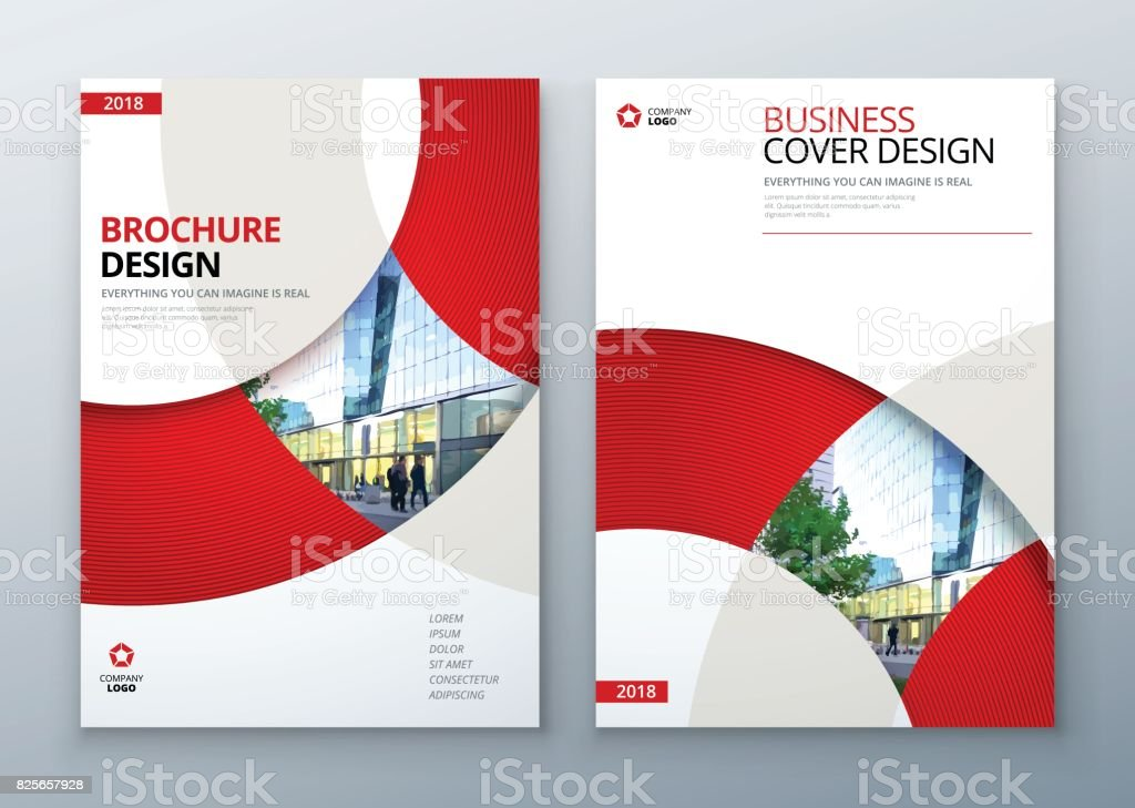 Brochure template layout design. Corporate business annual report, catalog, magazine, flyer mockup. Creative modern bright concept circle round shape vector art illustration