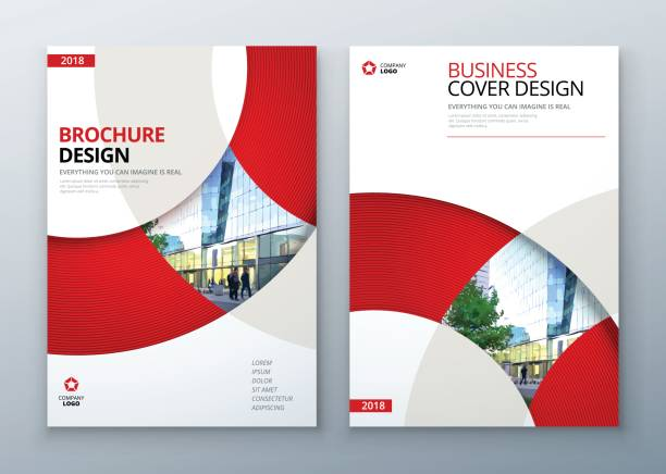 brochure template layout design. corporate business annual report, catalog, magazine, flyer mockup. creative modern bright concept circle round shape - fashion backgrounds stock illustrations, clip art, cartoons, & icons