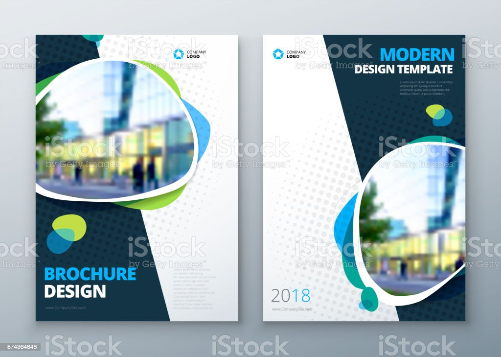 Brochure template layout design. Corporate business annual report, catalog, magazine, flyer mockup. Creative modern bright concept vector art illustration