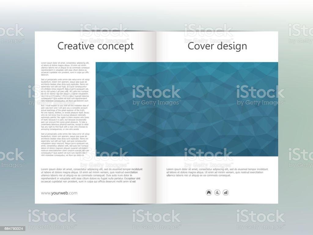 Diseño De Plantilla De Brochure Flyer Cubierta Informe Anual Revista ...