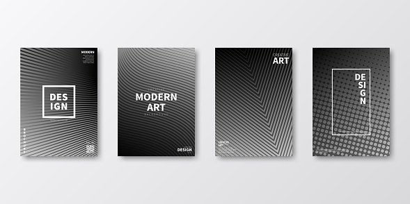 Brochure template layout, Gray cover design, business annual report, flyer, magazine