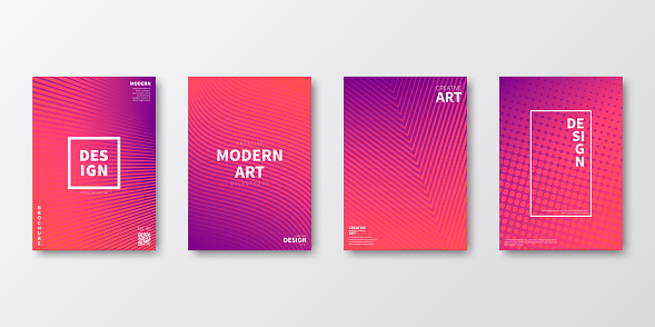 Brochure template layout, Pink cover design, business annual report, flyer, magazine
