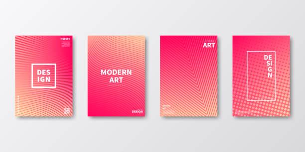 bildbanksillustrationer, clip art samt tecknat material och ikoner med broschyr mall layout, red cover design, business årsredovisning, flyer, magazine - pink sunrise
