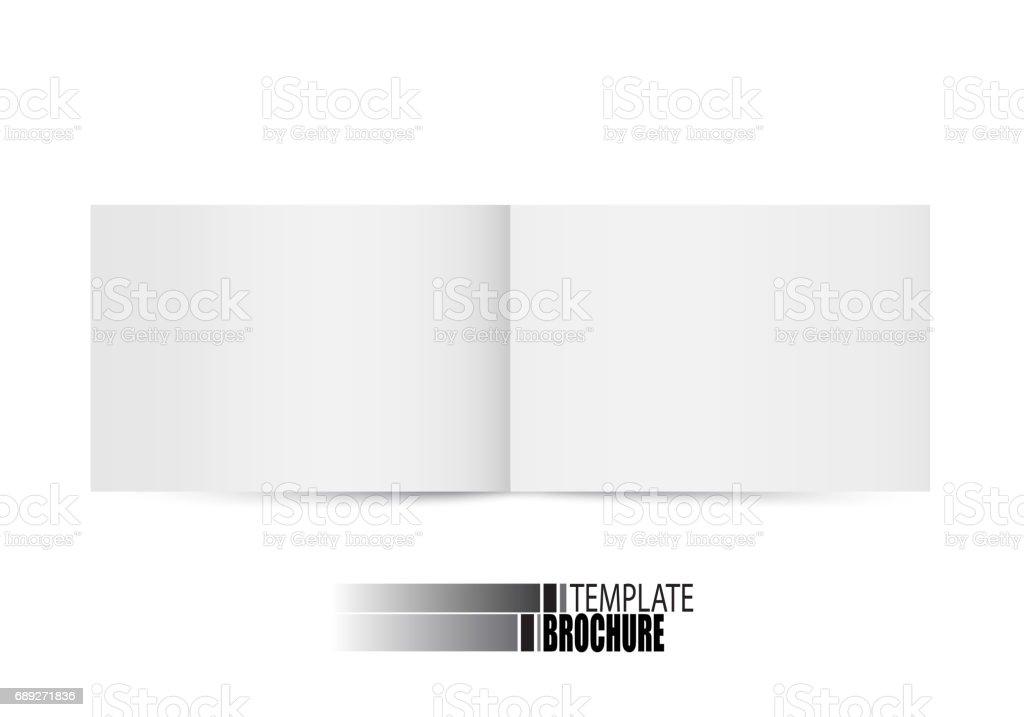 Brochure template on white background vector art illustration