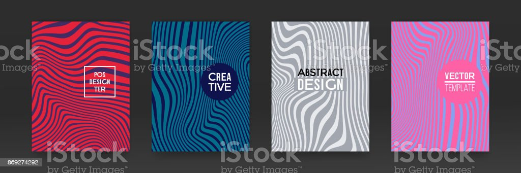 Brochure template set design marble vector abstract color splash texture background vector art illustration