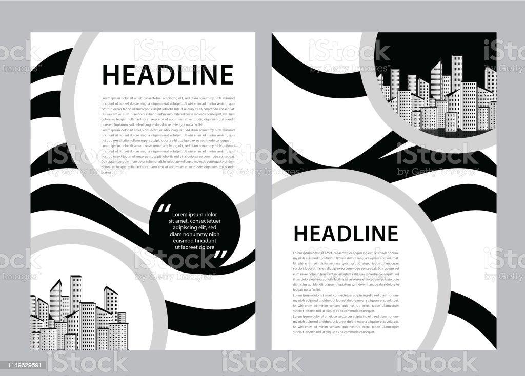 Brochure template vector, business flyer design, magazine layout a4,...