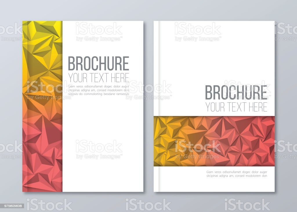 brochure template vector corporate business stationery design