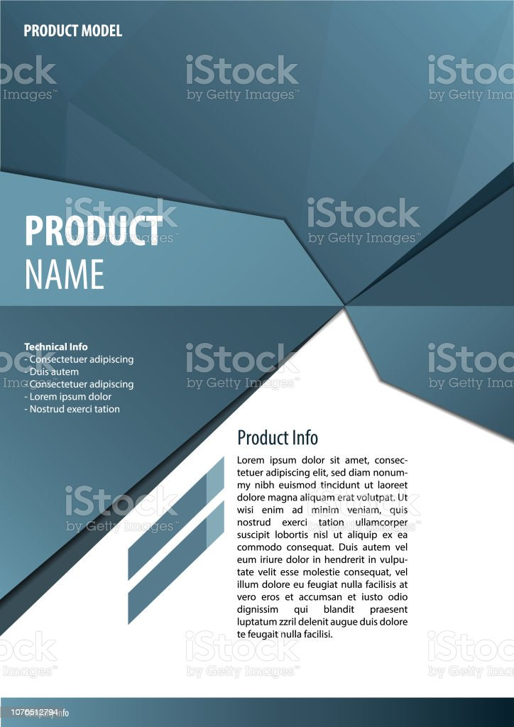 Brochure Template vector art illustration