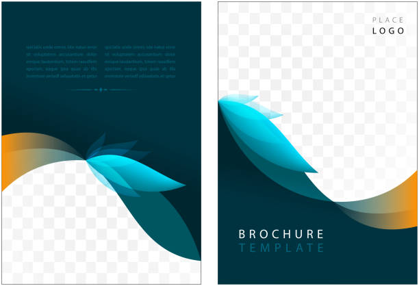 brochure template - annual reports templates stock illustrations