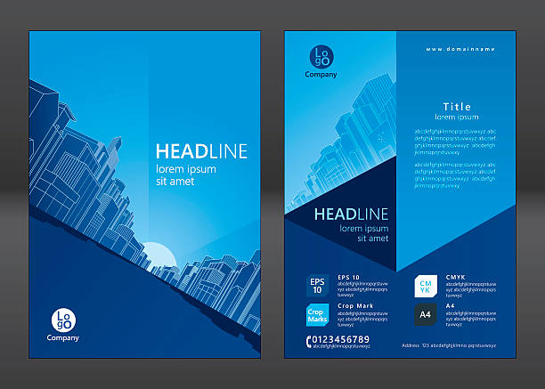 Royalty Free Real Estate Brochure Clip Art Vector Images
